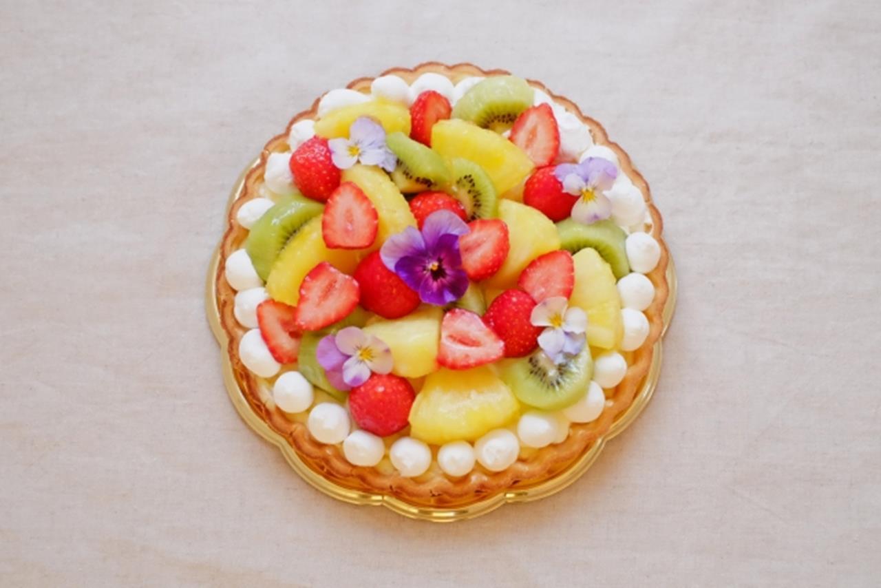 エディブルフラワーケーキのブログ画像